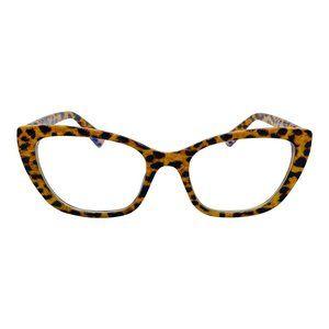 Billie | Leopard Cat Eye | Blue Light Glasses